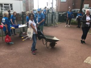 Cleaner colorful Cullercoats event